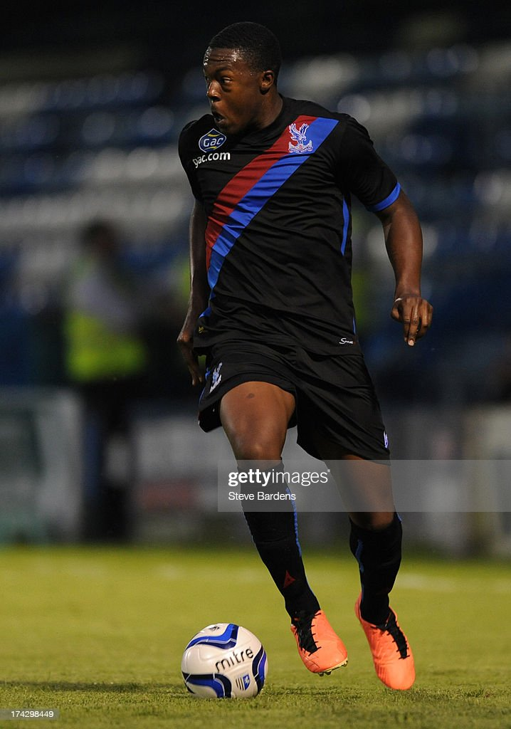 Jerome Williams of Crystal Palace in action during the pre season friendly match between Gillingham and Crystal Palace at Priestfield Stadium on July 23, 2013 in Gillingham, Medway.