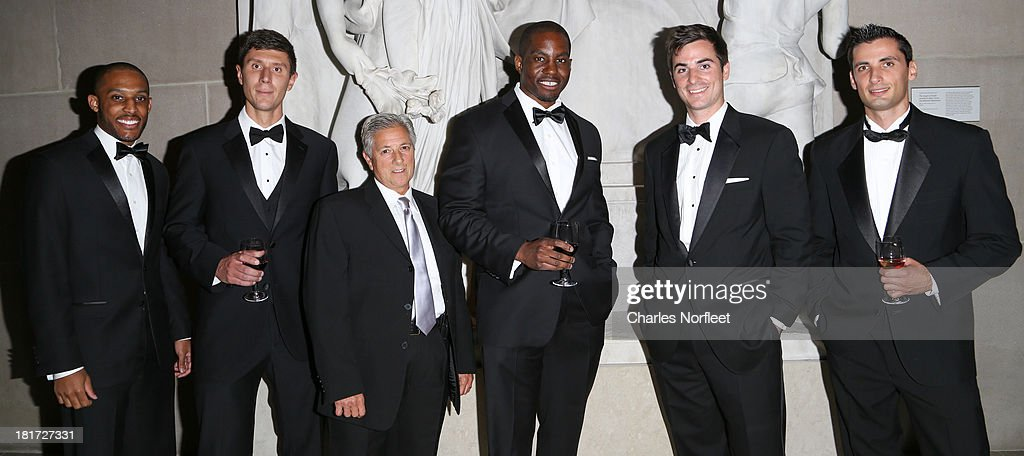 Jeron Jennings, Noah Karpf-Politi, Nancine Batali, Brian Minto, Tom Zingale and Vadim Kushnir attend 2013 Multicultural Gala: An Evening Of Many Cultures at Metropolitan Museum of Art on September 23, 2013 in New York City.