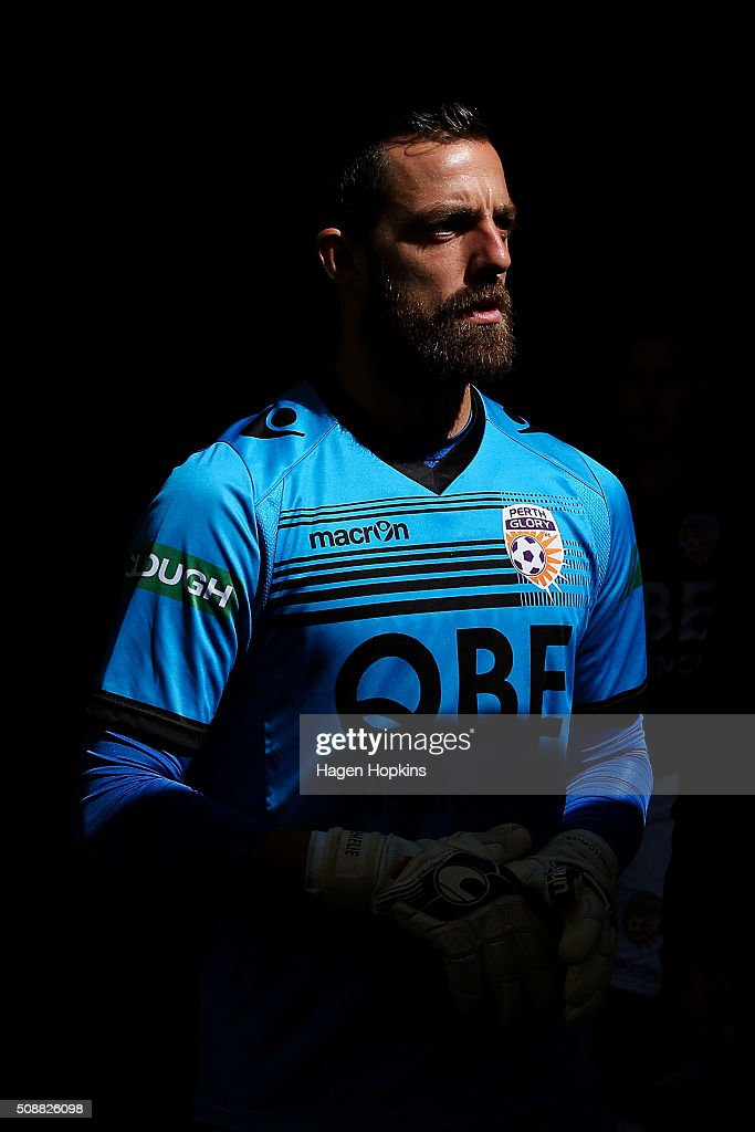 Jerrad Tyson of the Glory looks on during the round 18 A-League match between Wellington Phoenix and Perth Glory at Westpac Stadium on February 7, 2016 in Wellington, New Zealand.