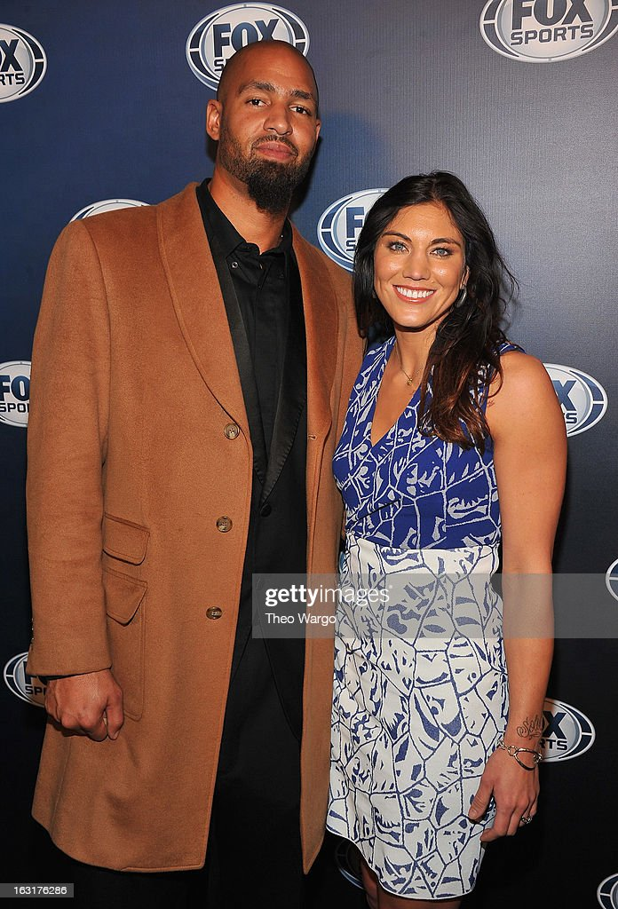 <a gi-track='captionPersonalityLinkClicked' href=/galleries/search?phrase=Jerramy+Stevens&family=editorial&specificpeople=664935 ng-click='$event.stopPropagation()'>Jerramy Stevens</a> and <a gi-track='captionPersonalityLinkClicked' href=/galleries/search?phrase=Hope+Solo&family=editorial&specificpeople=580524 ng-click='$event.stopPropagation()'>Hope Solo</a> attend the 2013 Fox Sports Media Group Upfront after party at Roseland Ballroom on March 5, 2013 in New York City.
