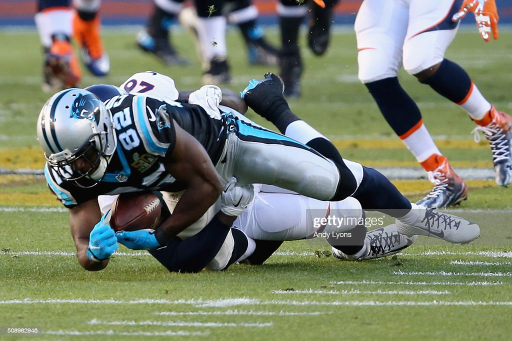 <a gi-track='captionPersonalityLinkClicked' href=/galleries/search?phrase=Jerricho+Cotchery&family=editorial&specificpeople=567181 ng-click='$event.stopPropagation()'>Jerricho Cotchery</a> #82 of the Carolina Panthers fails to make a catch against the Denver Broncos during Super Bowl 50 at Levi's Stadium on February 7, 2016 in Santa Clara, California. The call of an incomplete catch was upheld upon review.