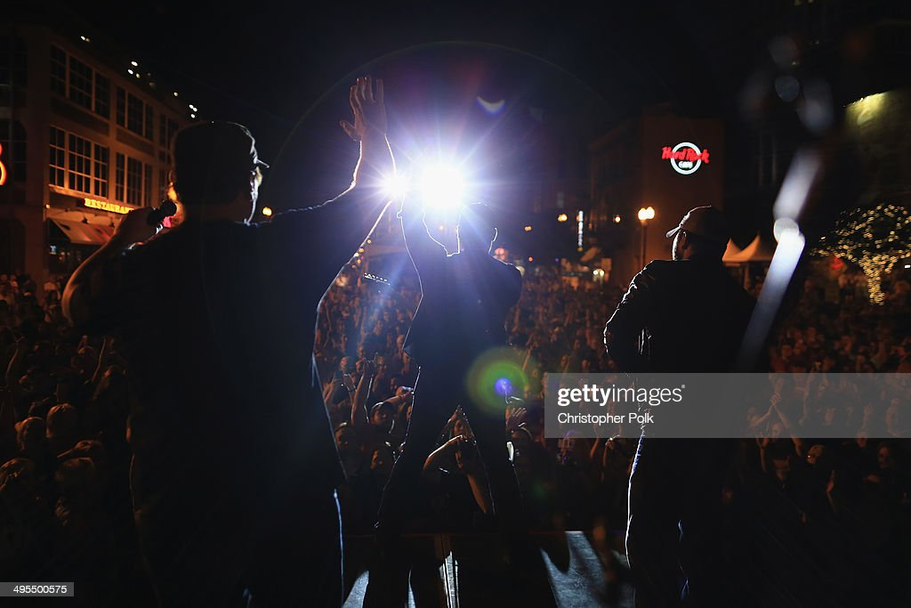 Jerrod Neimann, Lee Brice and Tyler Farr perform during Rodney Atkins 4th Annual Music City Gives Back on June 3, 2014 in Nashville, Tennessee.