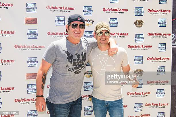 Jerrod Niemann and Craig Campbell attend the Craig Campbell celebrity cornhole challange on June 7 2016 in Nashville Tennessee
