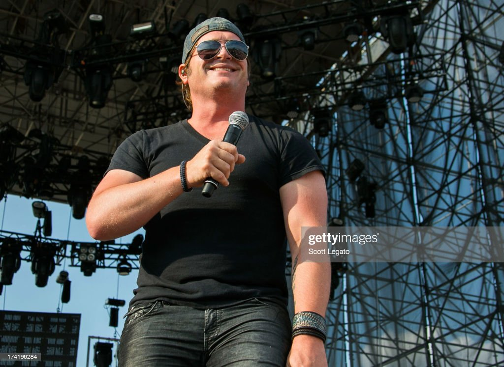 Jerrod Niemann performs during the 2013 Faster Horses Festival on July 21, 2013 in Brooklyn, Michigan.