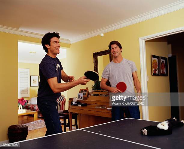 Jerry and Charlie O'Connell Playing Table Tennis