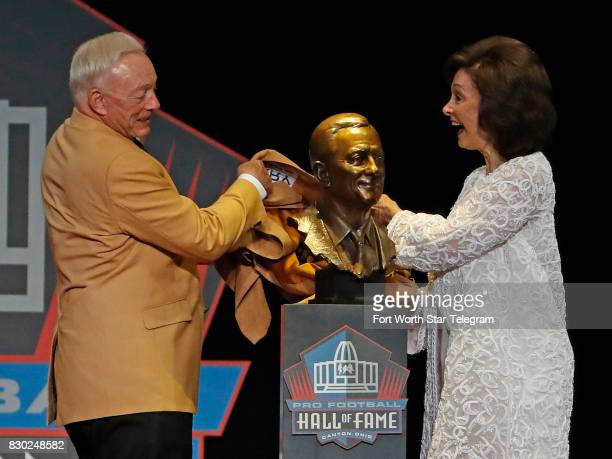 Jerry and Gene Jones unveiled the Hall of Fame bust together The 2017 NFL Hall of Fame class including Dallas Cowboys owner Jerry Jones and former...
