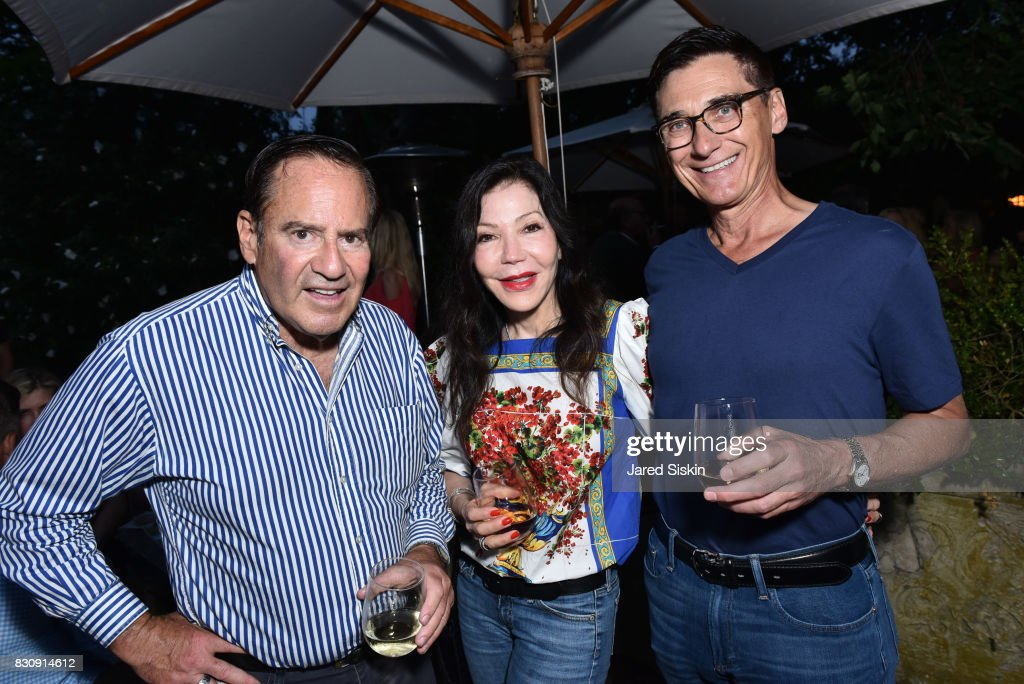 Jerry Berliant, Jane Scher and Gary Rombogh attend AVENUE on the Beach's Summer Soiree at The Baker House on August 12, 2017 in East Hampton, New York.