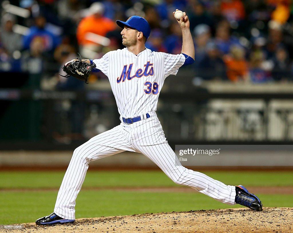 <a gi-track='captionPersonalityLinkClicked' href=/galleries/search?phrase=Jerry+Blevins&family=editorial&specificpeople=4525141 ng-click='$event.stopPropagation()'>Jerry Blevins</a> #39 of the New York Mets delivers a pitch in the seventh inning against the San Francisco Giants at Citi Field on April 29, 2016 in the Flushing neighborhood of the Queens borough of New York City.