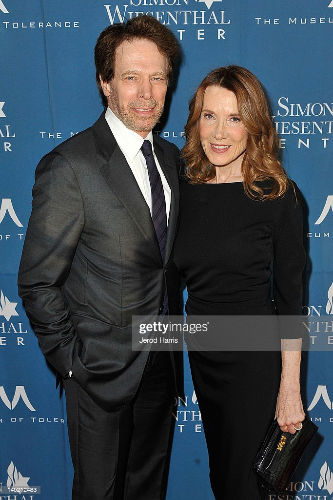Jerry Bruckheimer and <a gi-track='captionPersonalityLinkClicked' href=/galleries/search?phrase=Linda+Bruckheimer&family=editorial&specificpeople=227986 ng-click='$event.stopPropagation()'>Linda Bruckheimer</a> arrive at Simon Wiesenthal Center's Annual National Tribute Dinner Honoring Jerry Bruckheimer, in The Beverly Hills Hilton, on May 23, 2012 in Beverly Hills, California.