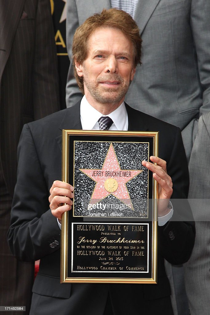 Jerry Bruckheimer attends the ceremony honoring him with a Star on The Hollywood Walk of Fame held in front of El Capitan Theatre on June 24, 2013 in Hollywood, California.