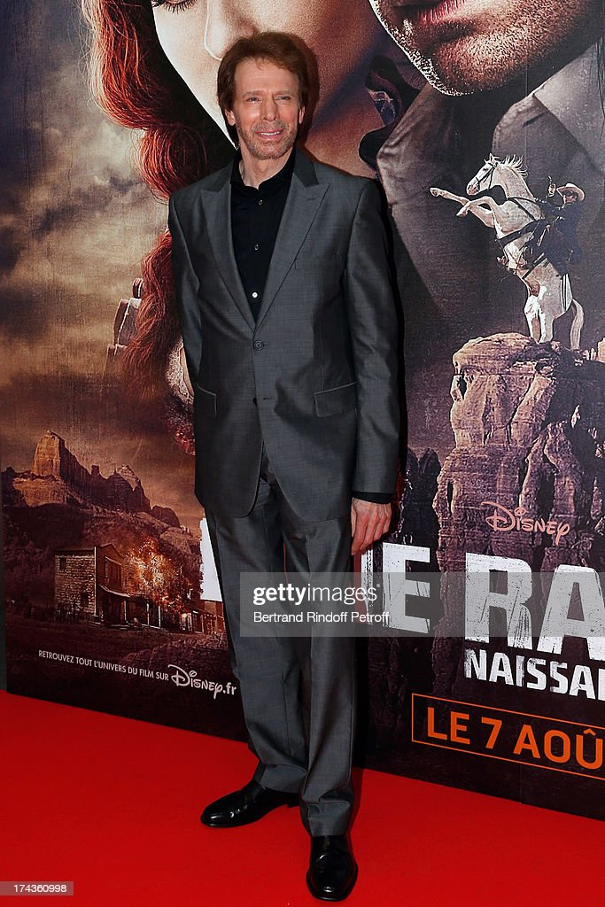 Jerry Bruckheimer attends the Paris Premiere of 'Lone Ranger' at UGC Normandy on July 24, 2013 in Paris, France.