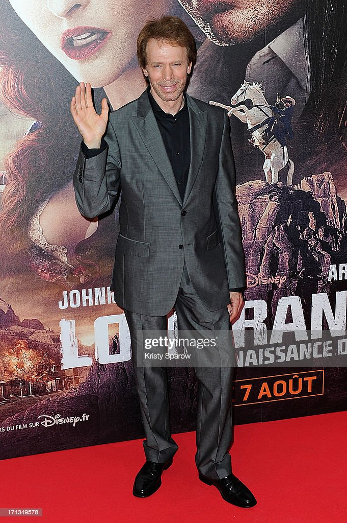 Jerry Bruckheimer attends the Paris premiere of 'The Lone Ranger' at Cinema UGC Normandie on July 24, 2013 in Paris, France.