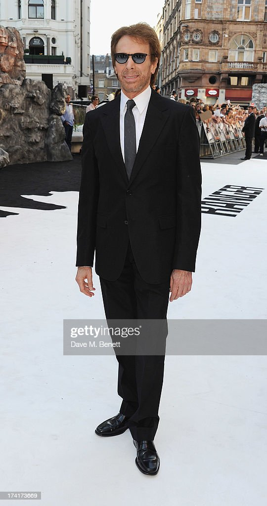 Jerry Bruckheimer attends the UK Premiere of 'The Lone Ranger' at Odeon Leicester Square on July 21, 2013 in London, England.