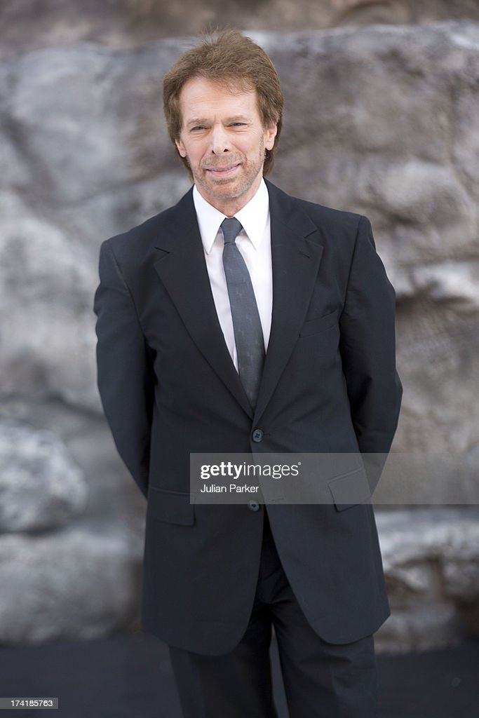 <a gi-track='captionPersonalityLinkClicked' href=/galleries/search?phrase=Jerry+Bruckheimer&family=editorial&specificpeople=203316 ng-click='$event.stopPropagation()'>Jerry Bruckheimer</a> attends the UK Premiere of 'The Lone Ranger' at Odeon Leicester Square on July 21, 2013 in London, England.