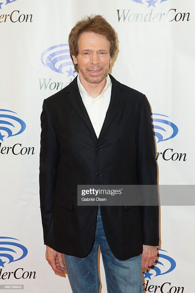 <a gi-track='captionPersonalityLinkClicked' href=/galleries/search?phrase=Jerry+Bruckheimer&family=editorial&specificpeople=203316 ng-click='$event.stopPropagation()'>Jerry Bruckheimer</a> attends WonderCon Anaheim 2014 - Screen Gems' 'Deliver Us From Evil' Photo Call at Anaheim Convention Center on April 19, 2014 in Anaheim, California.