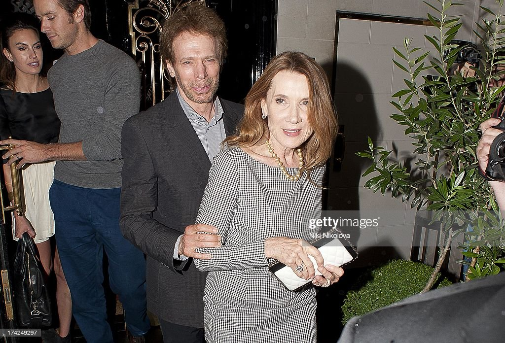 <a gi-track='captionPersonalityLinkClicked' href=/galleries/search?phrase=Jerry+Bruckheimer&family=editorial&specificpeople=203316 ng-click='$event.stopPropagation()'>Jerry Bruckheimer</a> leaving Scotts restaurant, Mayfair on July 22, 2013 in London, England.