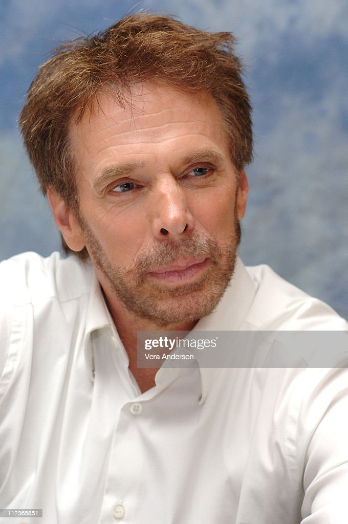 Jerry Bruckheimer producer during 'Pirates of the Caribbean Dead Man's Chest' Press Conference with Johnny Depp Orlando Bloom Gore Verbinski and...