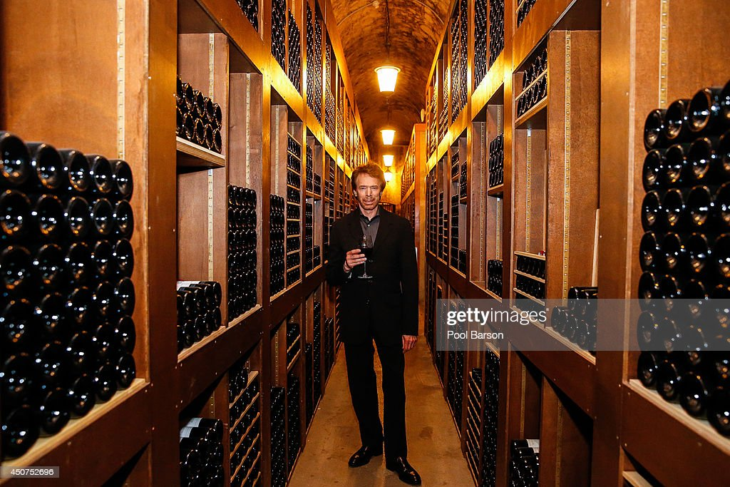 Jerry Bruckheimer visits the Wine Cave of the Hotel de Paris furing the 54th Monte Carlo TV Festival on June 9 2014 in MonteCarlo Monaco