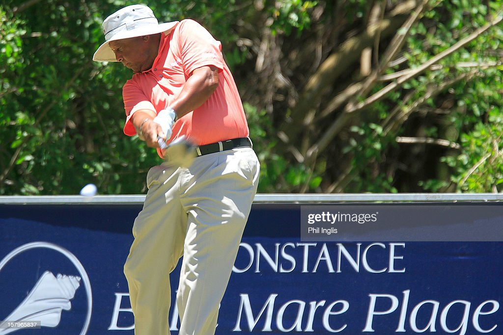 Jerry Bruner of the United States in action on the 4th tee during the second round of the MCB Tour Championship played at the Legends Course, Constance Belle Mare Plage on December 8, 2012 in Poste de Flacq, Mauritius.