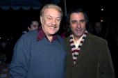 Jerry Buss and Andy Garcia during 'Twisted' World Premiere Red Carpet at Paramount Pictures in Los Angeles California United States