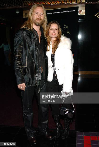 Jerry Cantrell and Shawnee Smith during 'Saw' Los Angeles Cast and Crew Screening Arrivals at Mann's Chinese 6 in Hollywood California United States