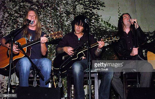 Jerry Cantrell Billy Morrison and Eric Bradley during Falcon Restaurant and Blender Magazine Host Homeless Health Care Benefit Los Angeles at Falcon...