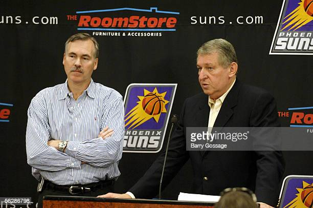 Jerry Colangelo the Phoenix Suns Chairman CEO and managing director of the USA Basketball Senior Men's National Team program and Mike D'Antoni head...