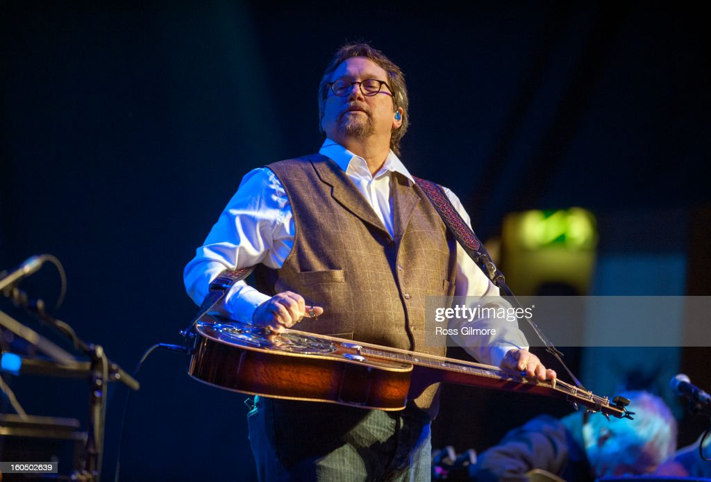 Jerry Douglas performs on stage as part of Transatlantic Sessions at Celtic Connections Festival 2013 at Glasgow Royal Concert Hall on February 1, 2013 in Glasgow, Scotland.