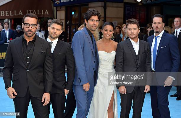 Jerry Ferrara Adrian Grenier Emmanuelle Chriqui Kevin Connolly Jeremy Piven and Kevin Dillon attend the European Premiere of 'Entourage' at Vue West...