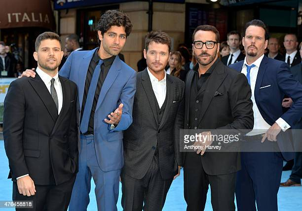 Jerry Ferrara Adrian Grenier Kevin Connolly Jeremy Piven and Kevin Dillon attend the European Premiere of 'Entourage' at Vue West End on June 9 2015...