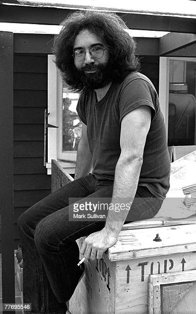 Jerry Garcia at home in Mill Valley CA 1975 Various Locations Mark Sullivan 70's Rock Archive Marin CA