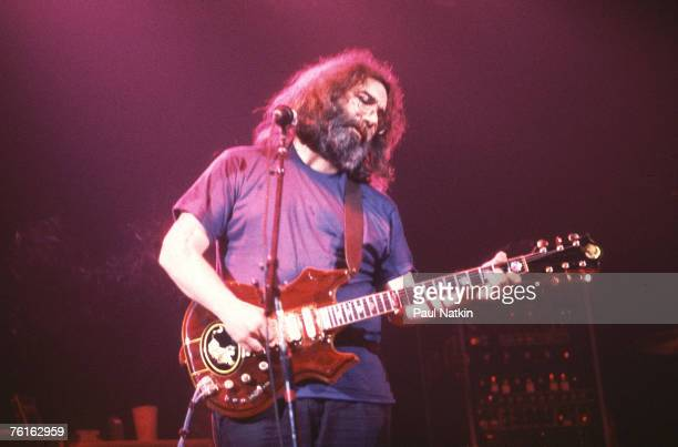 Jerry Garcia of Grateful Dead on 11/16/78 in Chicago Il