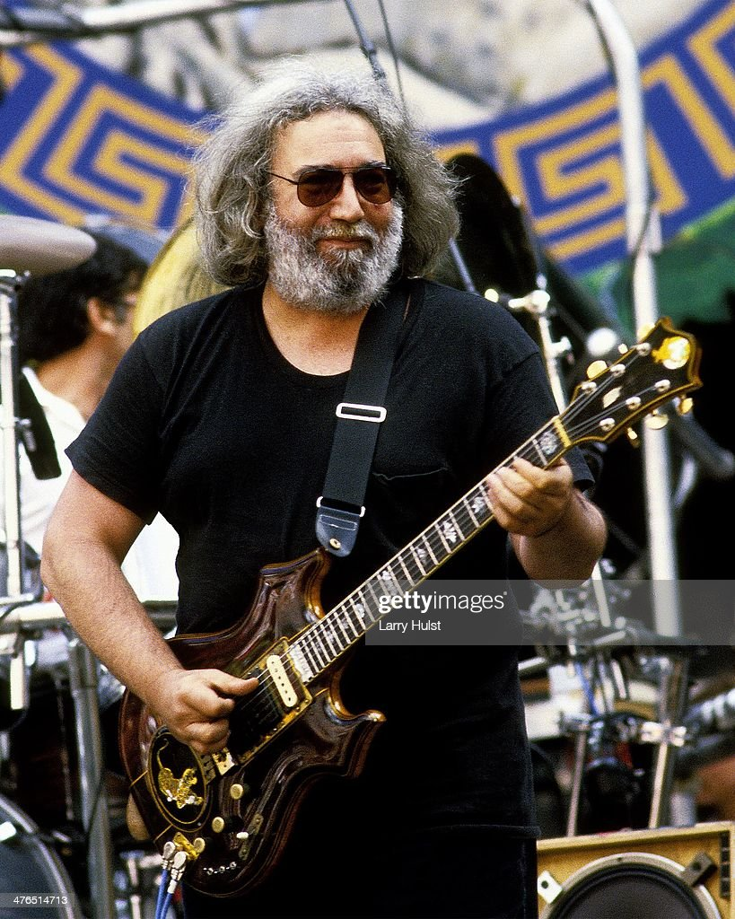 Jerry Garcia performing with 'The Grateful Dead' at the Greek Theatre in Berkeley, CA on July 22, 1986.