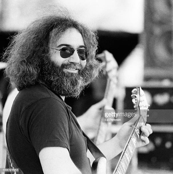 Jerry Garcia performs with the Grateful Dead in June 1978 in Santa Barbara California