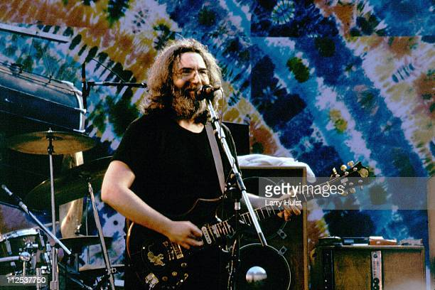 Jerry Garcia with the Grateful Dead perform at the Greek Theater in Berkeley California on July 15 1984
