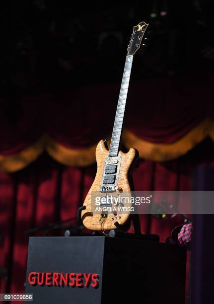 Jerry Garcia's guitar is auctioned on May 31 2017 in Brooklyn New York A guitar of Grateful Dead legend Jerry Garcia raised more than $3 million at...