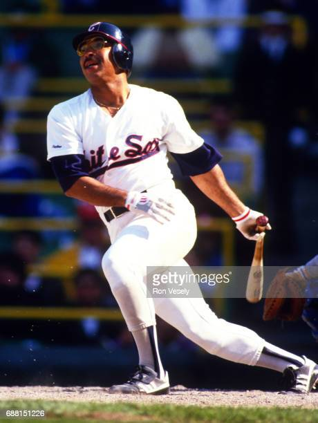 Jerry Hairston of the Chicago White Sox bats during an MLB game at Comiskey Park in Chicago Illinois Hairston played for the White Sox from 19731977...