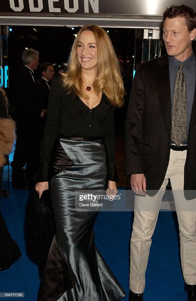 Jerry Hall And Benedict Allen, 'Master And Commander: The Far Side Of The World' Royal Premiere At The Odeon Leicester Square, London