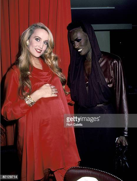 Jerry Hall and Grace Jones