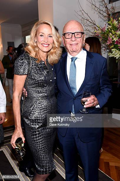 Jerry Hall and Rupert Murdoch celebrate wwwVogueCenturycom with Genesis Publications Alexandra Shulman of British Vogue and The GREAT Britain...
