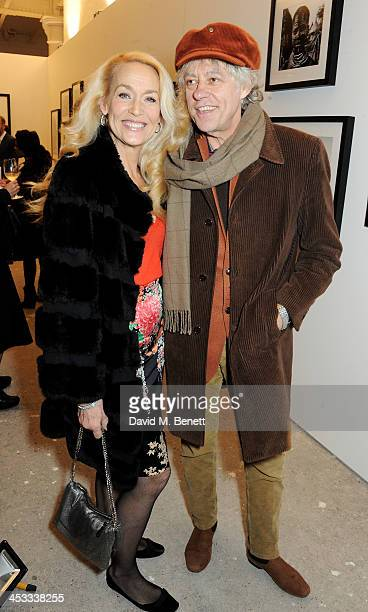 Jerry Hall and Sir Bob Geldof attend a private view of Nikolai Von Bismarck's new photography exhibition 'In Ethiopia' at 12 Francis Street Gallery...