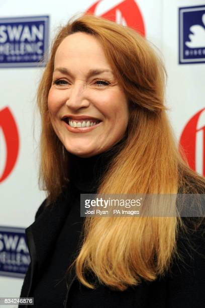 Jerry Hall arrives for the 2008 Oldie of the Year Awards in association with Swan Hellenic held at Simpsons in theStrand central London