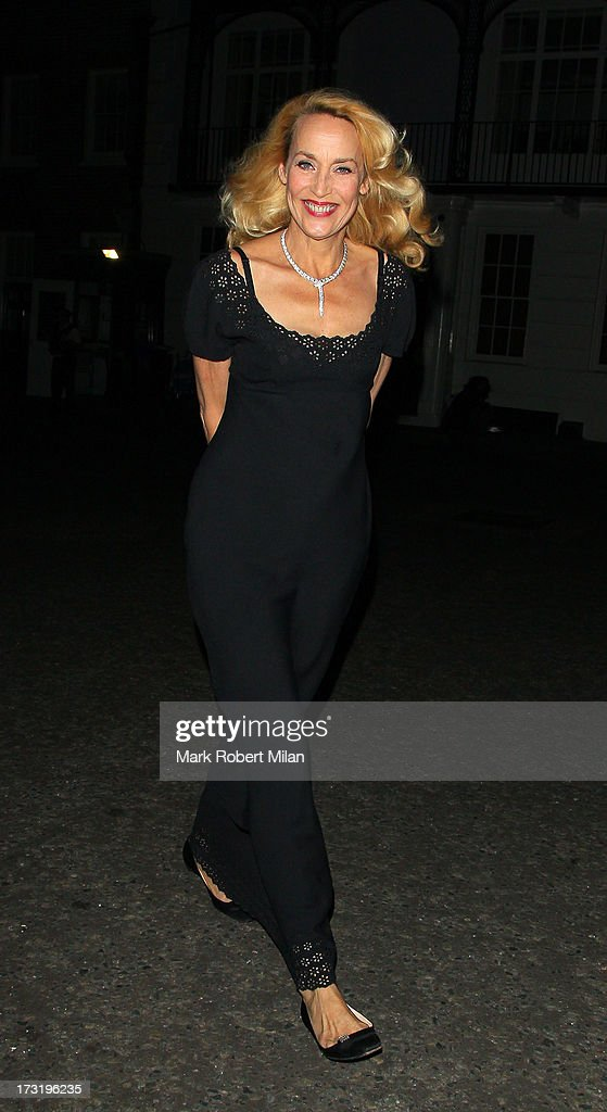 Jerry Hall attending The Elephant Family Presents The Animal Ball on July 9, 2013 in London, England.