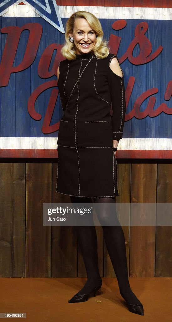 <a gi-track='captionPersonalityLinkClicked' href=/galleries/search?phrase=Jerry+Hall&family=editorial&specificpeople=171120 ng-click='$event.stopPropagation()'>Jerry Hall</a> attends CHANEL 2013/14 'Paris-Dallas Metiers d'Art Collection' on June 4, 2014 in Tokyo, Japan.