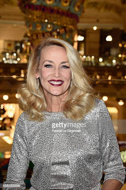Jerry Hall attends Christmas decorations inauguration at Galeries Lafayette on November 5 2014 in Paris France