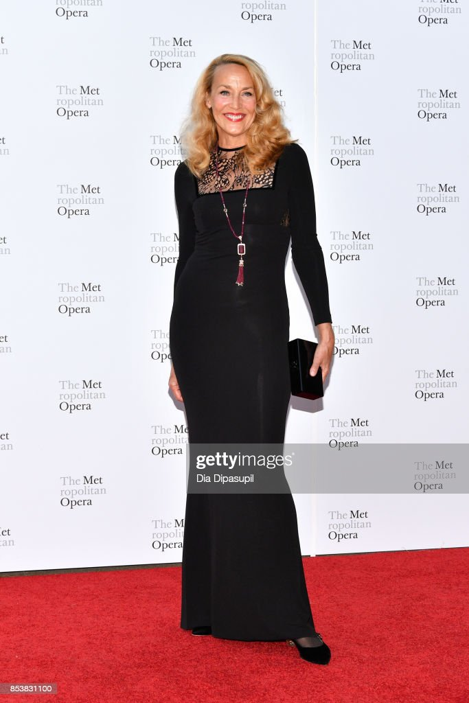 Jerry Hall attends the 2017 Metropolitan Opera Opening Night at The Metropolitan Opera House on September 25, 2017 in New York City.