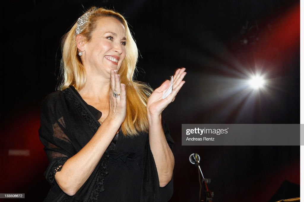 <a gi-track='captionPersonalityLinkClicked' href=/galleries/search?phrase=Jerry+Hall&family=editorial&specificpeople=171120 ng-click='$event.stopPropagation()'>Jerry Hall</a> attends the 20th Unesco charity gala at Maritim Hotel on November 19, 2011 in Duesseldorf, Germany.