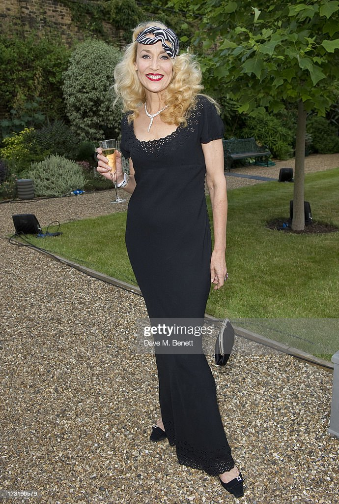 <a gi-track='captionPersonalityLinkClicked' href=/galleries/search?phrase=Jerry+Hall&family=editorial&specificpeople=171120 ng-click='$event.stopPropagation()'>Jerry Hall</a> attends The Elephant Family presents 'The Animal Ball' at Lancaster House on July 9, 2013 in London, England.