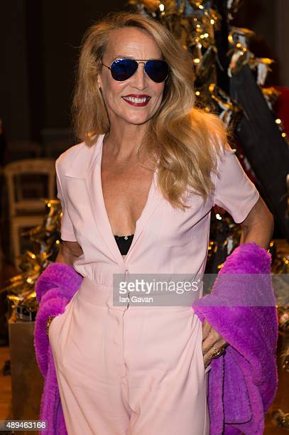 Jerry Hall attends the GILES show during London Fashion Week SS16 on September 21 2015 in London England