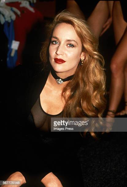 Jerry Hall attends the Launch of her Swimwear Collection circa 1988 in New York City